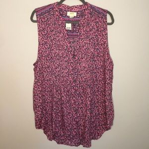 NWT- Anthropologie Maeve Floral Sleeveless Blouse